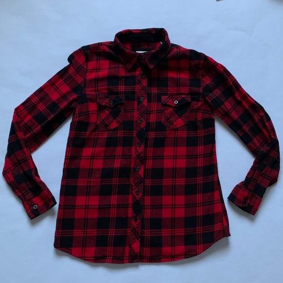 Weatherproof Vintage Black & Red Flannel  (S)